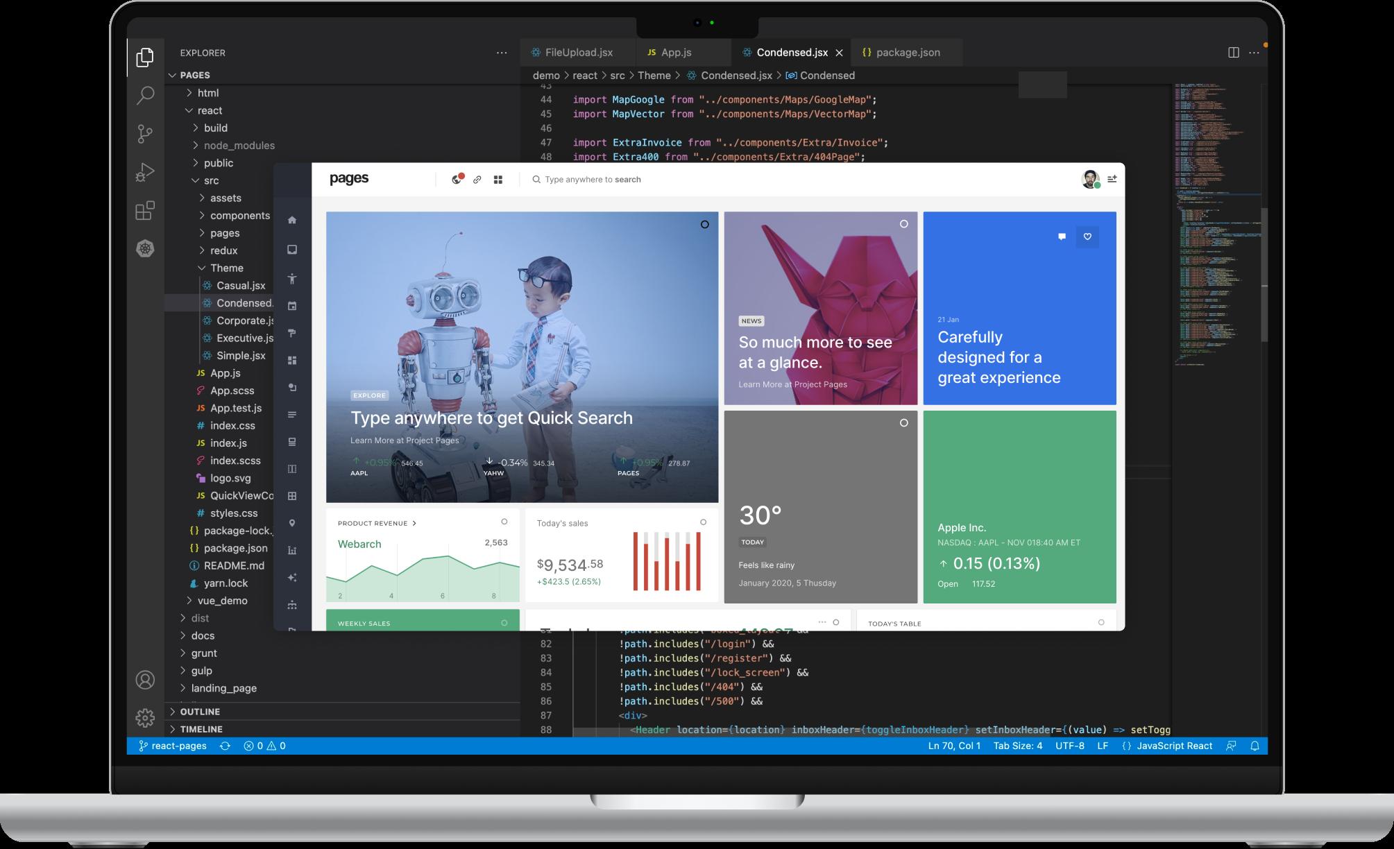 Pages - Dashboard UI Framework